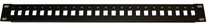 24-port 1U High Density patch panel for SC. These panels come without feedthrus  (unloaded). Simplex SC footprint.